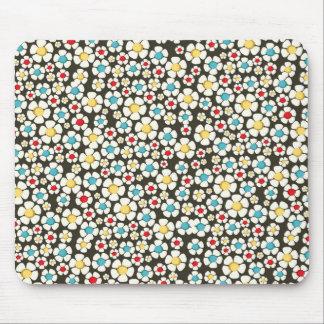 padrão floral branco mouse pad
