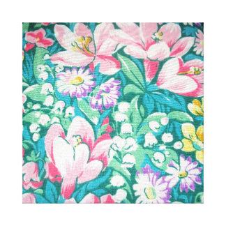 padrão floral stretched canvas print