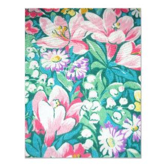 padrão floral card