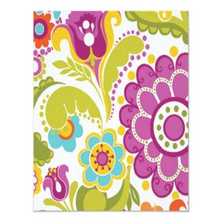 padrão floral colorido card