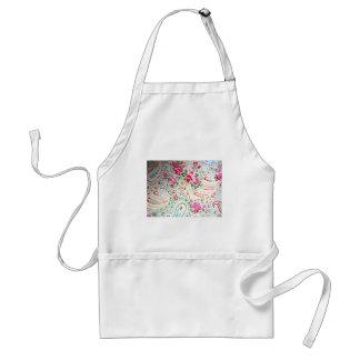 padrão floral de rosas adult apron