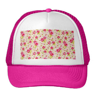 padrao floral de rosas trucker hat