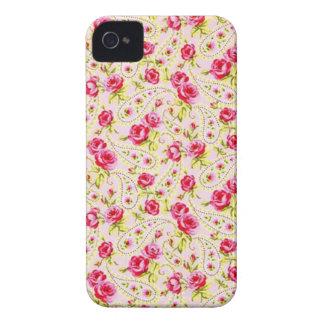 padrao floral de rosas iPhone 4 Case-Mate case