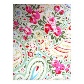 padrão floral de rosas postcard