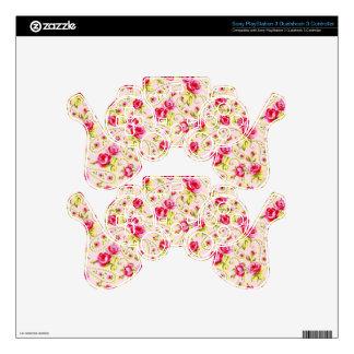 padrao floral de rosas PS3 controller skin