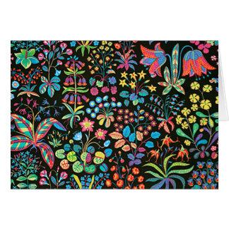 padrão floral em fundo escuro card