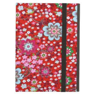 padrão floral em fundo vermelho case for iPad air