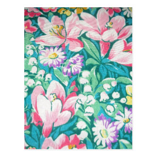 padrão floral postcard