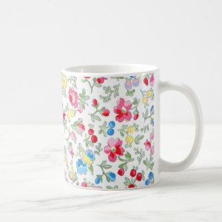 padrão floral tazas