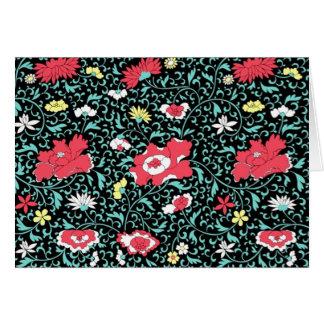 padrão florido em fundo escuro card