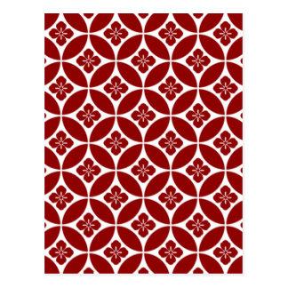 padrão formas geometricas postcard