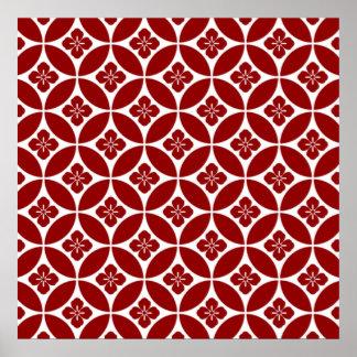 padrão formas geometricas poster