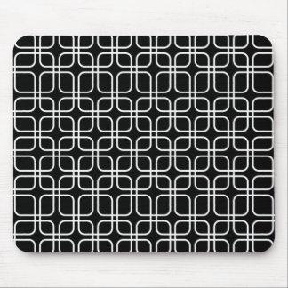 padrão geometrico a preto ebranco mouse pad