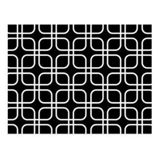 padrão geometrico a preto ebranco postcard