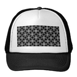 padrão geometrico a preto ebranco trucker hat