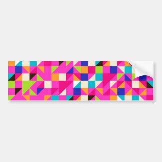 padrão geometrico bumper sticker
