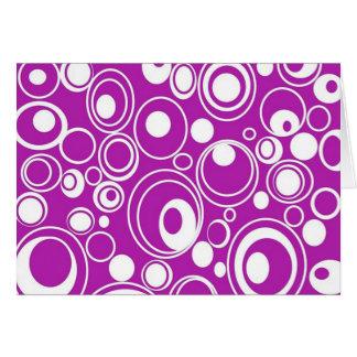 padrão geometrico de circulos card