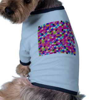 padrão geometrico doggie tshirt