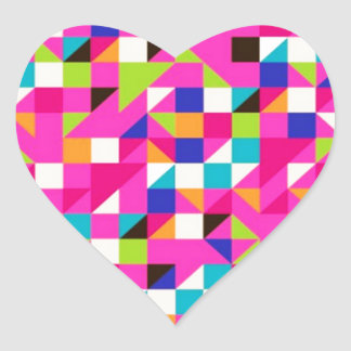 padrão geometrico heart sticker