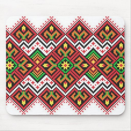 padrão tipo bordado tapetes de ratones