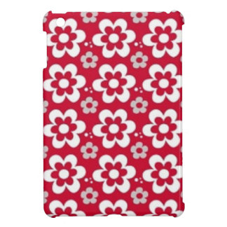padrão vermelho com flores brancas iPad mini covers