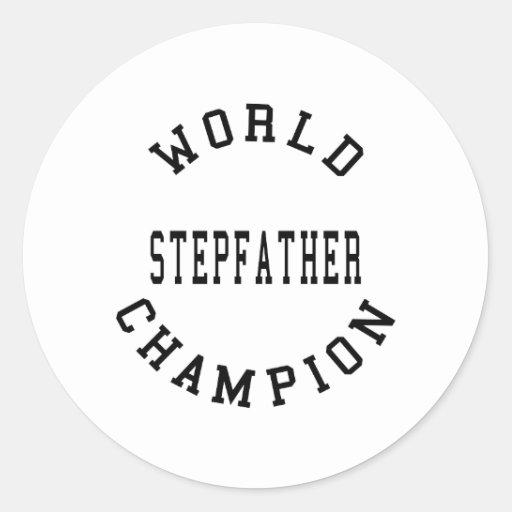 Padrastro retro fresco del campeón del mundo etiquetas redondas