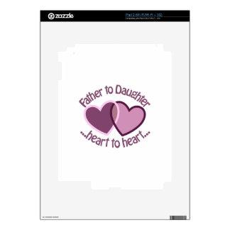 Padre a la hija calcomanía para iPad 2