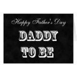 Padre a ser o papá a ser tarjeta del día de padres