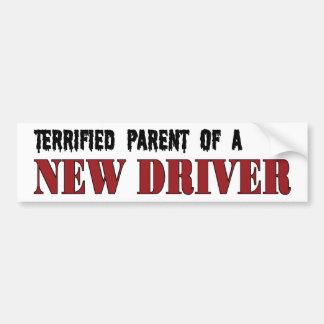 Padre aterrorizado - nuevo conductor pegatina de parachoque