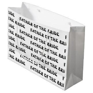 """Padre bolso del regalo de la novia"" Bolsa De Regalo Grande"