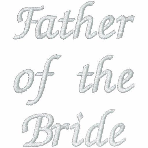 Padre bordado de la novia polo bordado