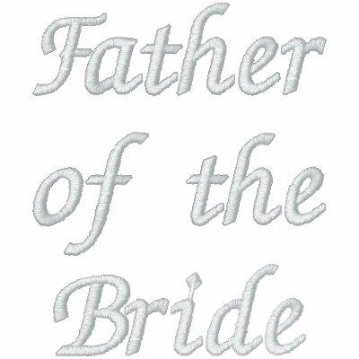 Padre bordado de la novia camiseta polo