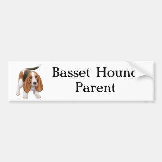 Padre de Basset Hound Etiqueta De Parachoque