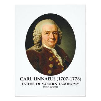 """Padre de Carl Linnaeus de la taxonomía moderna Invitación 4.25"""" X 5.5"""""""