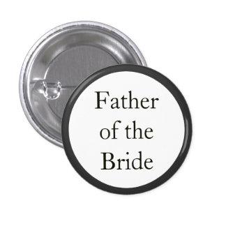 Padre de encargo del boda de los botones de pin redondo de 1 pulgada