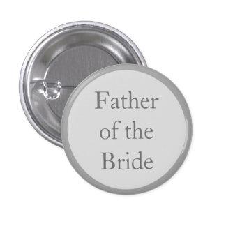 Padre de encargo del boda de los botones de Pinbac Pin Redondo De 1 Pulgada