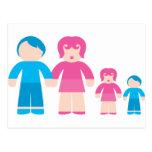 Padre de familia y mujer con los niños