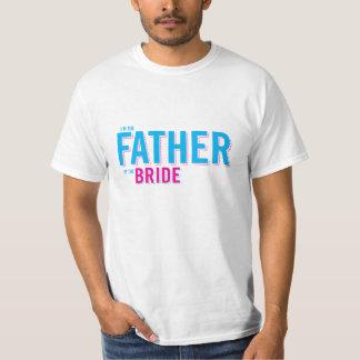 Padre de la camiseta de la novia playera