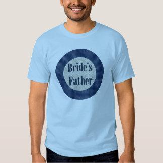 Padre de la camiseta de la novia playeras