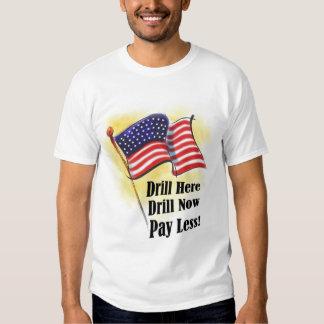 Padre de la camiseta del taladro remeras