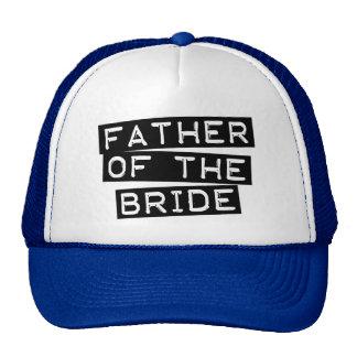 Padre de la etiqueta de la novia gorras