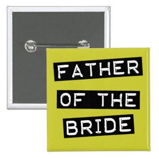 Padre de la etiqueta de la novia pin