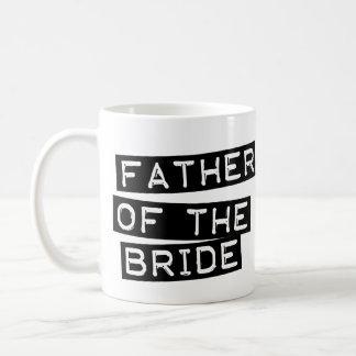 Padre de la etiqueta de la novia taza