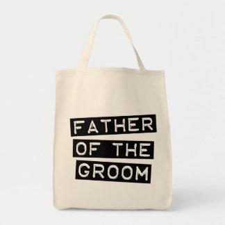Padre de la etiqueta del novio bolsa