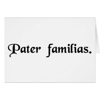Padre de la familia tarjetas