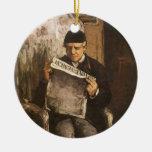 Padre de la lectura por Cezanne, bella arte del Adorno Para Reyes