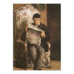 Padre de la lectura por Cezanne, bella arte del Anuncios Personalizados