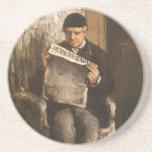 Padre de la lectura por Cezanne, bella arte del Posavasos Manualidades