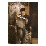 Padre de la lectura por Cezanne, bella arte del Tarjeta