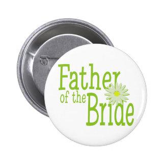 Padre de la margarita de la novia pin redondo de 2 pulgadas